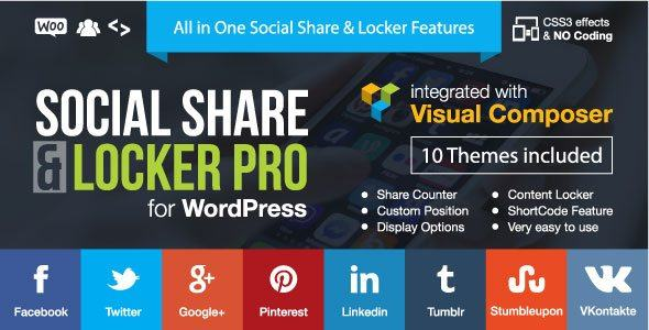 Download Social Share & Locker Pro 7.4 WordPress Plugin Free