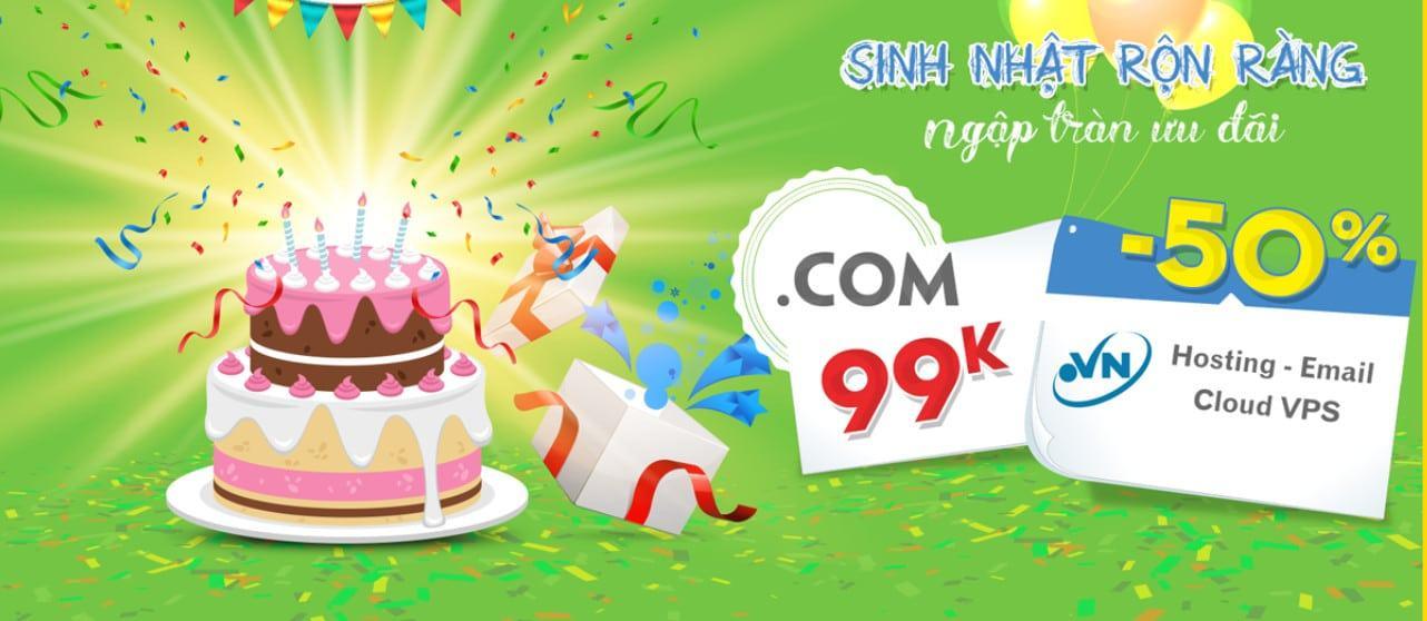INet giảm giá tên miền .com xuống còn 99K mừng sinh nhật