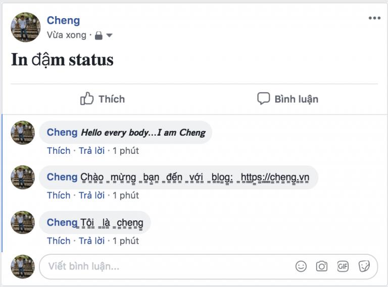 Thủ thuật bôi đậm status, comment,Post trên Facebok cực hay