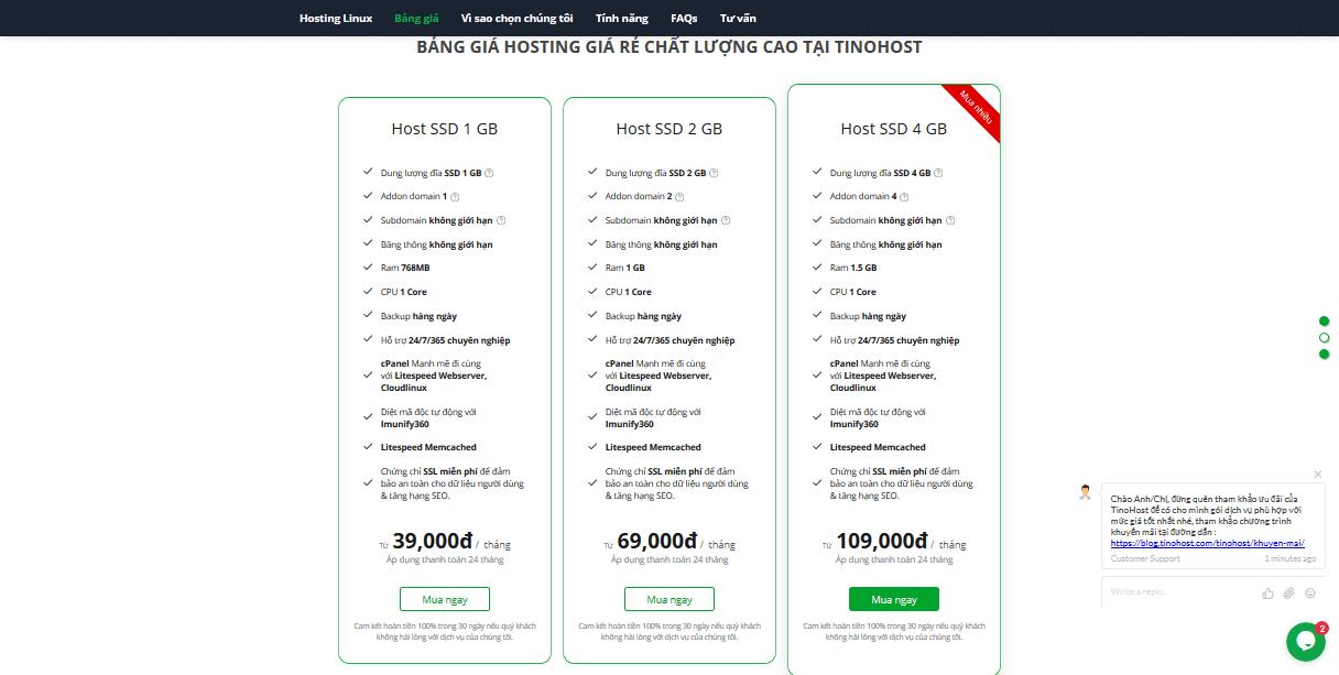 Đánh giá hosting Tinohost có tốt không? Liệu có đáng mua? có mã giảm giá không?